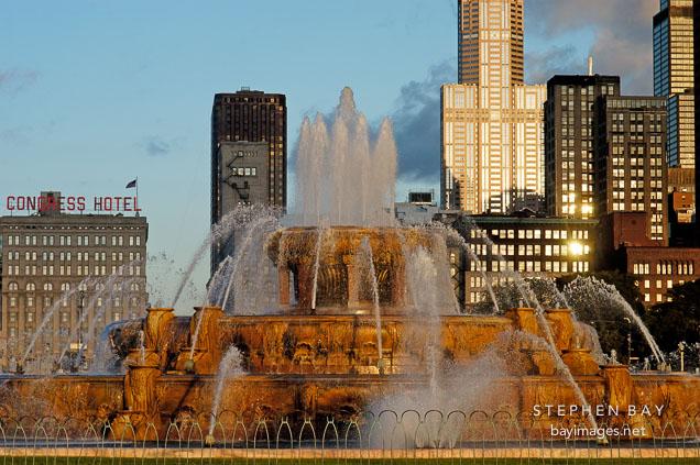 Buckingham Fountain was designed by Edward H. Bennett. Chicago, Illinois, USA.