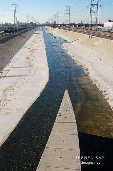 Los Angeles River. Los Angeles, California, USA.