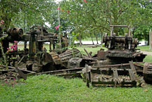 Broken down machines lie in around the village. Tortuguero Village, Costa Rica. - Photo #14000