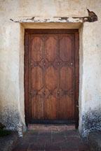 Heavy wooden door. Carmel Mission, California. - Photo #26800