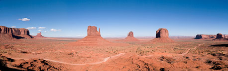 Monument Valley Panorama. Monument Valley, Arizona. - Photo #22100