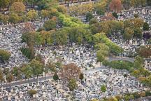 Aerial view of Montparnasse cemetery. Paris, France. - Photo #31501