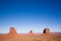 Monument Valley buttes. Monument Valley, Arizona. - Photo #18901
