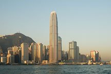 Two IFC Tower is the centerpiece of the Hong Kong island skyline. Hong Kong, China. - Photo #14701