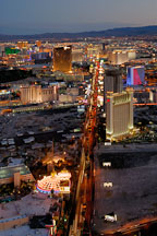 Aerial view of Las Vegas Boulevard. Las Vegas, Nevada, USA. - Photo #13610