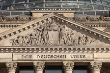 Dem Deutschen Volke, inscription on the Reichstag. Berlin, Germany. - Photo #30610