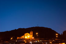 Church of San Cristobal, night. Cusco, Peru. - Photo #9336