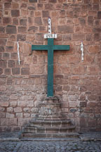 Cross on Cathedral wall. Cusco, Peru. - Photo #9213