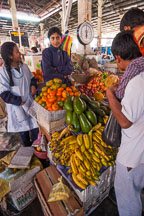 Selling plantains and other fruit in the central market. Cusco, Peru. - Photo #9457