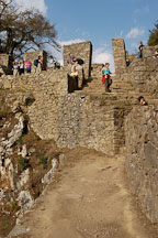Tourists at Intipunku. Gate of the Sun. Inca trail, Peru. - Photo #9846