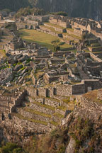 Upper complex of buildings. Machu Picchu, Peru. - Photo #9902