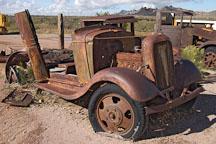Abandoned car. Goldfield, Phoenix, Arizona, USA. - Photo #5511