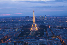 Aerial view of the Eiffel Tower and Paris. - Photo #31511