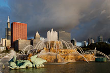 Buckingham Fountain. Grant Park, Chicago, Illinois, USA. - Photo #10511