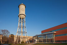 Marston Water Tower and Hoover Hall. Iowa State University. - Photo #32411