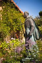 Statue of Junipero Serra in the garden. Carmel Mission, California. - Photo #26811