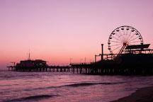 Santa Monica pier, at twilight. Santa Monica, California, USA. - Photo #8311