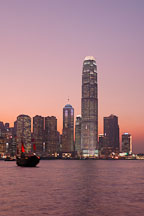 Sunset over Hong Kong. Hong Kong, China. - Photo #14611