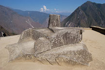 Intihuatana, Hitching Post of the Sun. Machu Picchu, Peru. - Photo #10092