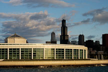 Shedd Aquarium, at dawn. Chicago, Illinois, USA. - Photo #10696
