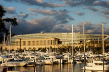Soldier Field and Burnham Park Harbor. Chicago, Illinois, USA. - Photo #10693