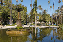 Pond and fountain at Will Rogers Memorial Park. Beverly Hills, California, USA. - Photo #8412