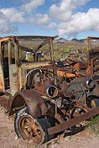 Rusted and abandoned car. Goldfield, Phoenix, Arizona, USA. - Photo #5512
