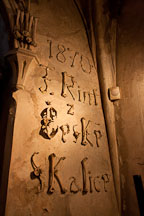 Signature of Frantisek Rint written with bones. Bone church, Sedlec, Czech Republic. - Photo #29812