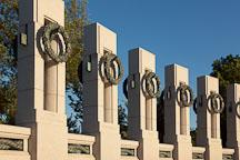 State pillars at the World War II Monument. Washington, D.C. - Photo #29012