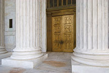 Cast bronze entrance doors to the U.S. Supreme Court. Washington, D.C., USA. - Photo #11284