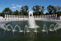 Fountains at the National World War II Memorial. Washington, D.C., USA. - Photo #11452