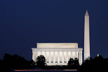 Lincoln Memorial and the Washington Monument. Washington, D.C., USA. - Photo #11427