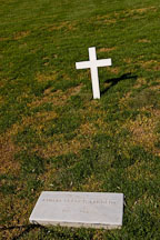 Robert Kennedy gravesite and cross. Arlington National Cemetery. Arlington, Virginia, USA. - Photo #11087