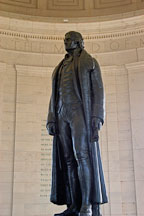 Statue of Thomas Jefferson. Jefferson Memorial, Washington, D.C., USA. - Photo #11478