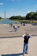 Tourist photographing the Lincoln Memorial. Washington, D.C., USA. - Photo #11502