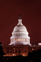 U.S. Capitol, at night. Washington, D.C., USA. - Photo #11021