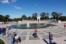 Visitors to the National World War II Memorial. Washington, D.C., USA. - Photo #11448