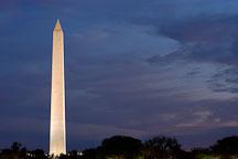Washington Monument at dusk. Washington, D.C., USA. - Photo #11070