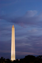 Washington Monument at twilight. Washington, D.C., USA. - Photo #11068