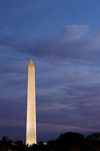 Washington Monument at twilight. Washington, D.C., USA. - Photo #11068