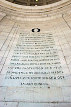 We hold these truths to be self evident. Jefferson Memorial, Washington, D.C., USA. - Photo #11477