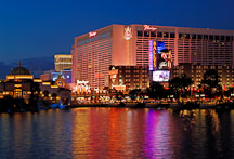 Las Vegas Boulevard at night. Las Vegas, Nevada, USA. - Photo #13313
