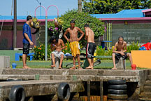 Young boys after swimming. Tortuguero village, Costa Rica. - Photo #14013