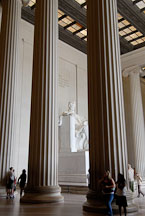 Columns in the Lincoln Memorial. Washington, D.C., USA. - Photo #12700
