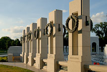 Pillars at National World War II Memorial. Washington, D.C., USA. - Photo #12767