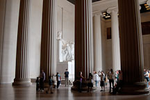 Visitors at the Lincoln Memorial. Washington D.C., USA. - Photo #12703