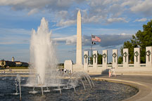 National World War II Memorial and Washington Monument. Washington, D.C., USA. - Photo #12763