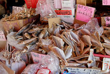 Dried fish for sale. Chinatown, San Francisco, California. - Photo #12614