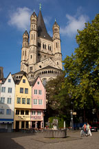 Fischmarkt and Gross St Martin Church. Cologne, Germany. - Photo #30814