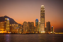 Hong Kong island skyline at sunset. Hong Kong, China. - Photo #14614